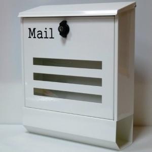 【送料無料】郵便ポスト 郵便受け 錆びない 大型メールボックス壁掛けホワイト白色プレミアムステンレスポスト(white)|1bankanwebshop