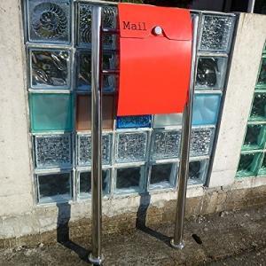 【送料無料】郵便ポスト 郵便受け 錆びない メールボックス スタンドタイプ型ダイヤル錠付レッド赤色プレミアムステンレスポスト(red)|1bankanwebshop