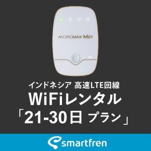 インドネシア(バリ島を含む)用 モバイルWiFi(ポケットwifi)レンタル 21-30日用 使い放題プラン [返却送料無料]|1daywifi-com