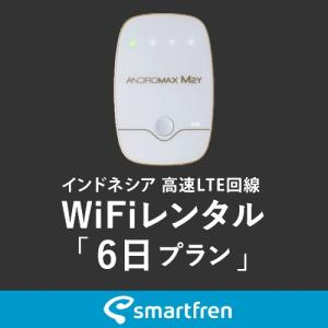 インドネシア(バリ島を含む)用 モバイルWiFi(ポケットwifi)レンタル 6日用 900MB [返却送料無料] 1daywifi-com