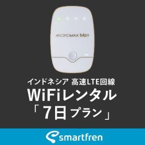 インドネシア(バリ島を含む)用 モバイルWiFi(ポケットwifi)レンタル 7日用 使い放題プラン [返却送料無料] 1daywifi-com
