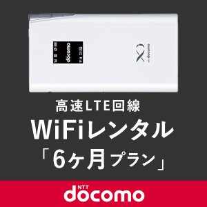 [キャンペーン価格]日本国内用 モバイルWiFi(ポケットwifi)レンタル 6ヶ月用 3GB/月 / ドコモ 高速LTE回線 [返却送料無料]|1daywifi-com