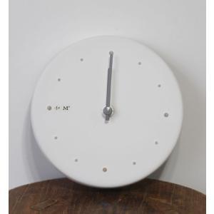 studio m'  スタジオエム  時計 白化粧 pendule murale*メール便不可*陶製時計
