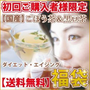 福袋 2019 ごぼう茶&黒豆茶 各100P エイジング ダイエット 健康茶 ティーバック|1fukuya