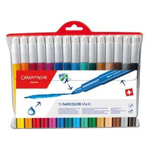 【CARAN d'ACHE】カラン ダッシュ 0195-715 ファンカラー 水溶性フェルトペン マキシ15色セット|1more