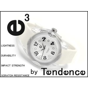 Tendence テンデンス ボーイズサイズ腕時計 FIRST RAINBOW 44mm WHITE 3H ホワイト 02013017 ネコポス不可|1more