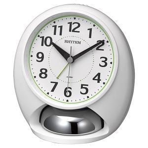 リズム RHYTHM タフバトラーラウド 目覚まし時計 4RA480SR03 ホワイト|1more