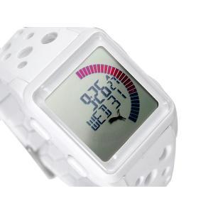 PUMA TIME AGITATION プーマ ユニセックスサイズデジタル腕時計 ホワイト ウレタンベルト A11.1 ネコポス不可|1more