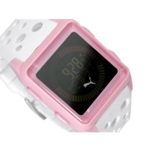 PUMA TIME AGITATION プーマ ユニセックスサイズ反転液晶デジタル腕時計 ピンク ウレタンベルト A11.2 ネコポス不可|1more