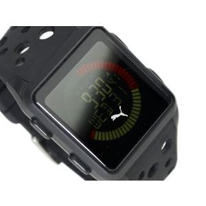 PUMA TIME AGITATION プーマ ユニセックスサイズ反転液晶デジタル腕時計 ブラック ウレタンベルト A11.4 ネコポス不可|1more