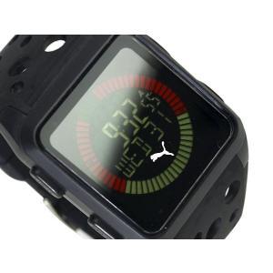 PUMA TIME AGITATION プーマ メンズサイズ反転液晶デジタル腕時計 ブラック ウレタンベルト A11.5 ネコポス不可|1more