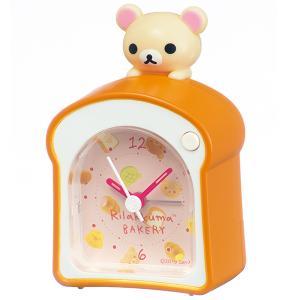 SEIKO セイコークロック   オレンジ  目覚まし時計 リラックマ  CQ160A|1more