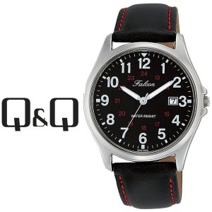 【ネコポス配送で送料無料】シチズン CITIZEN Q&Q キューキュー Falcon ファルコン メンズ 腕時計 ブラック×ブラック D026-305|1more