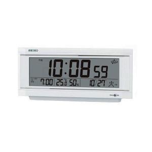 SEIKO CLOCK セイコークロック製セイコー SEIKO 衛星電波目覚まし時計 GP501W ホワイト|1more