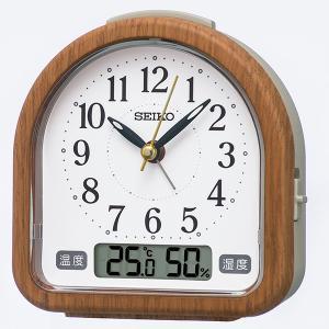 SEIKO セイコークロック   茶木目  目覚まし時計  KR513B|1more