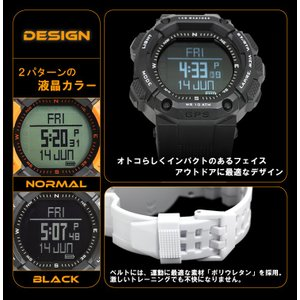 GPS 時計 登山におすすめ 高度計 方位計を搭載したアウトドア 腕時計 メンズ|1more|02