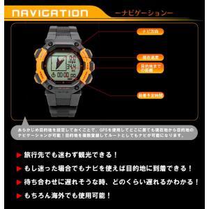 GPS 時計 登山におすすめ 高度計 方位計を搭載したアウトドア 腕時計 メンズ|1more|03