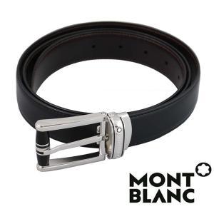 モンブラン MONTBLANC  ベルト  メンズ ブラック ブラウン  リバーシブル カット調整 MB-114386 1more