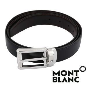 モンブラン MONTBLANC  ベルト  メンズ ブラック ブラウン  リバーシブル カット調整 MB-114427 1more
