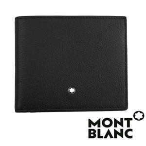 モンブラン MONTBLANC  ミニウォレット  メンズ ブラック   二つ折り財布 マネークリップ コインケース MB-114464|1more