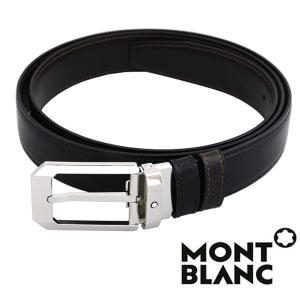モンブラン MONTBLANC  ベルト  メンズ ブラック ブラウン  リバーシブル カット調整 MB-116579 1more