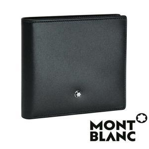 モンブラン MONTBLANC  ミニウォレット   メンズ ブラック   二つ折り財布 マネークリップ コインケース MB-7163|1more