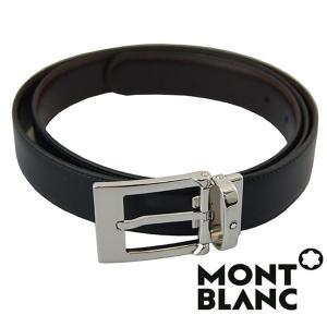 モンブラン MONTBLANC  ベルト  メンズ ブラック ブラウン  リバーシブル カット調整 MB-9774 1more