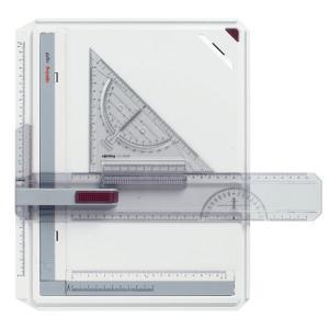 ロットリング ラピッドボード A4 製図ボード 三角スケール付き 定規 三角定規 S0232710 (522404)|1more