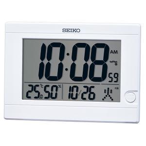 SEIKO セイコークロック   ホワイト  デジタル時計  SQ447W|1more