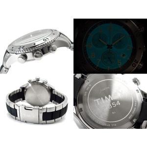 TIMEX タイメックス Tシリーズ メンズクロノグラフ腕時計 グレーブラックダイアル ステンレス×ウレタンコンビベルト T2M706 ネコポス不可|1more|03