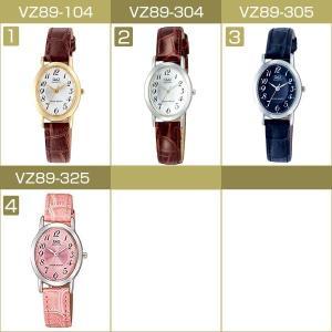 ネコポス配送で送料無料 レビューを書いて1年保証 シチズン CITIZEN Q&Q キューキュー レディース 腕時計 VZ89-104 VZ89-304 VZ89-305 VZ89-325|1more|03