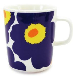 マリメッコ マグカップ 063431 002/WHITE×DARK BLUE ホワイト×ダークブルー|1pia
