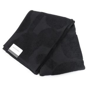 マリメッコ バスタオル 067502 009 ブラック タオル  75×150cm 黒  |1pia