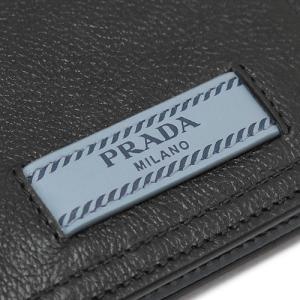 f36995f54056 ... プラダ 折財布 PRADA 財布 エティケット レザー ブラック×ライトブルー系 黒 1MV204 2BMU F0OK0