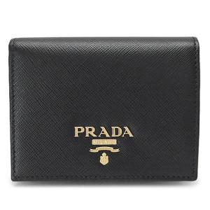 プラダ 折財布  ブラック 黒 1MV204 QWA F0002/SAFFIANO METAL NERO|1pia