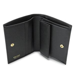 プラダ 折財布  ブラック 黒 1MV204 QWA F0002/SAFFIANO METAL NERO|1pia|04