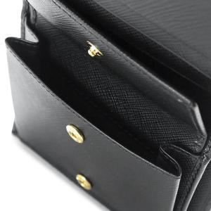 プラダ 折財布  ブラック 黒 1MV204 QWA F0002/SAFFIANO METAL NERO|1pia|05