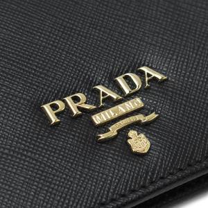 プラダ 折財布  ブラック 黒 1MV204 QWA F0002/SAFFIANO METAL NERO|1pia|06