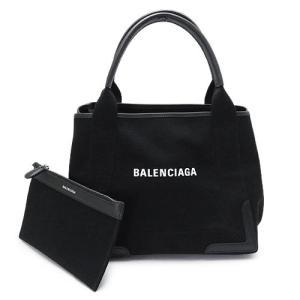 バレンシアガ トートバッグ レディース ネイビー カバ Sサイズ キャンバス ブラック 黒 339933 AQ38N 1000 1pia