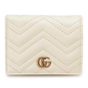 グッチ カードケース 財布 レザー オフホワイト 443125 DRW1T 9022|1pia