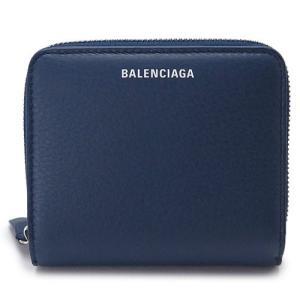 バレンシアガ 折財布 レディース BALENCIAGA  ブルー系  レザー EVERYDAY BILLFOLD 516366 DLQ0N 4205 1pia