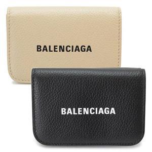 バレンシアガ 折財布 レディース  財布 三つ折り ミニ財布 コンパクト財布 レザー ブラック 黒 593813 1IZ4M 1090 1pia