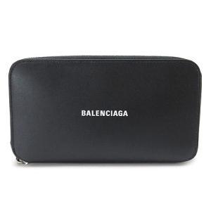 バレンシアガ 長財布 メンズ  財布 ラウンドファスナー レザー ブラック 黒 594290 1I313 1090 1pia