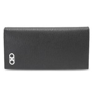 フェラガモ 長財布 メンズ  財布 レザー ブラック×レッド 66A069 0686018/NERO RED 1pia