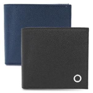 ブルガリ 折財布 BVLGARI 30396 BLACK メンズ 財布 二つ折り BVLGARI B...