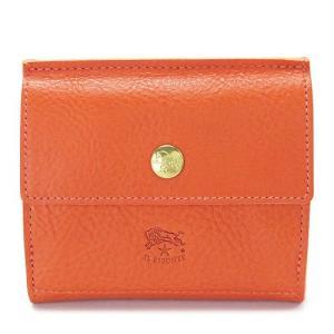 イルビゾンテ 折財布 IL BISONTE C0910P 166/ORANGE オレンジ|1pia