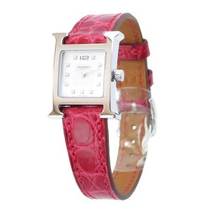 エルメス 腕時計 HE91-WHAT-4280/SV Hウォッチ レッド/シルバー|1pia