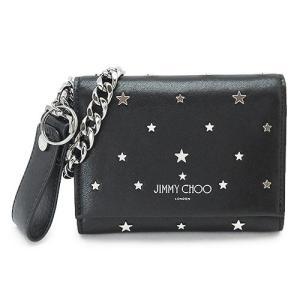 ジミーチュウ 折財布 ROLF UXI BLACK/SILVER メンズ JIMMY CHOO ロルフ スター ウォレットチェーン レザー ブラック 黒|1pia