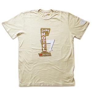 特価品/Tシャツ カットソー 半袖 KW03 CREAM カウボーイズ KOWBOYS「LUCKY MOTEL NO VACANCY」クリーム|1pia