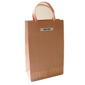 miu miu ミュウミュウ 直営店 ペーパーバッグ/紙袋/ショッパー 16×25×8cm(財布・小物向け)MIUMIU|1pia